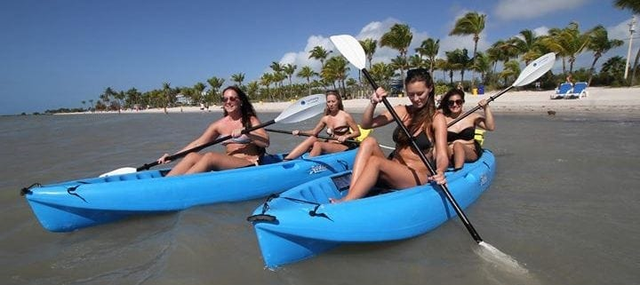 Family Kayaking in Keys