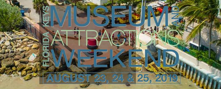 an image that has the logo for the Florida Keys Museum and Attractions Weekend.
