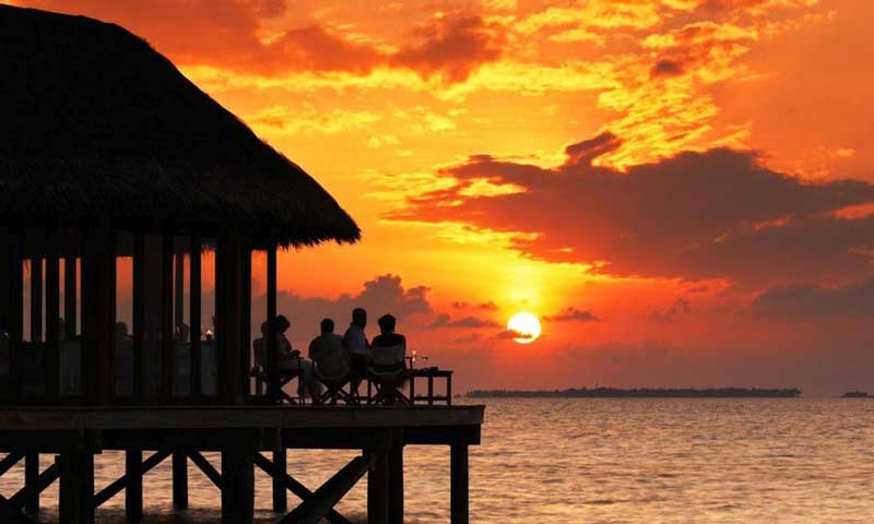 Sunset with Orange and Yellow Clouds - Rentals Florida Keys