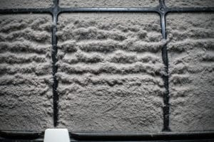 AC filter with many dust