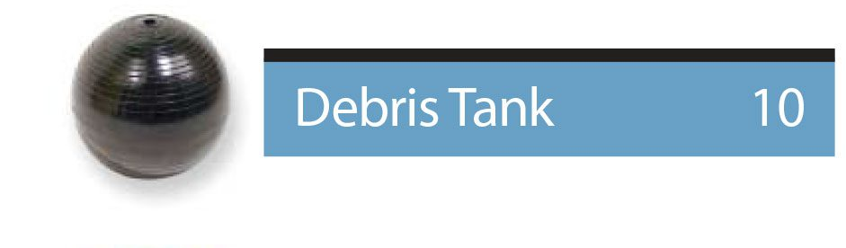 find parts related to debris tank