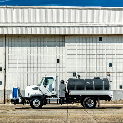 Sewer Jetting Truck - Side view