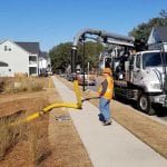 Vac-Con Recycler - men working in residential location