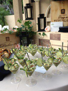country rose and lantern food display