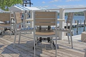 Café tables and chairs