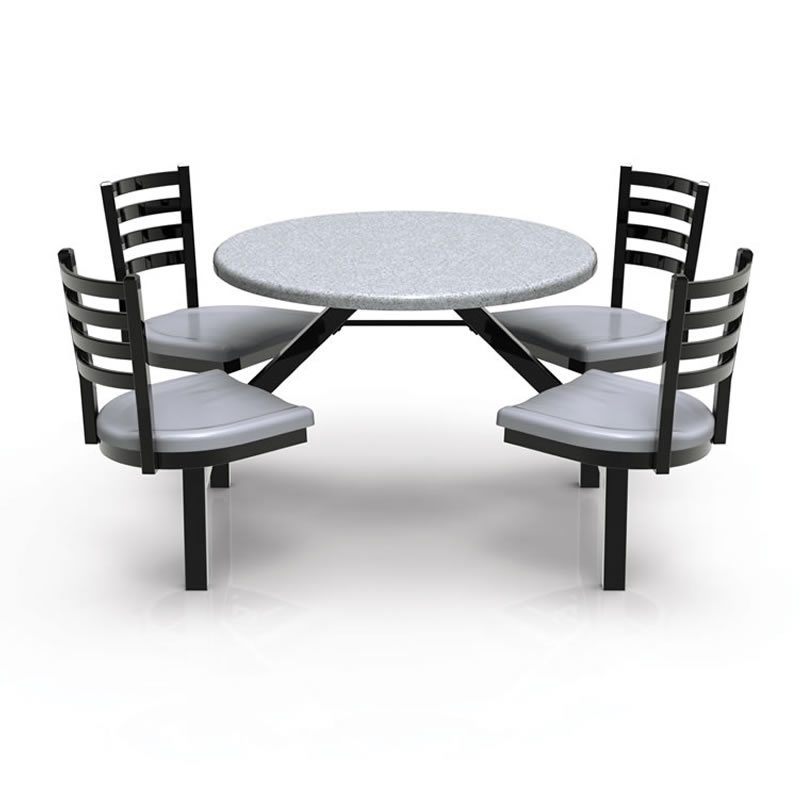 Covey Indoor or Outdoor Tables and Attached Chairs