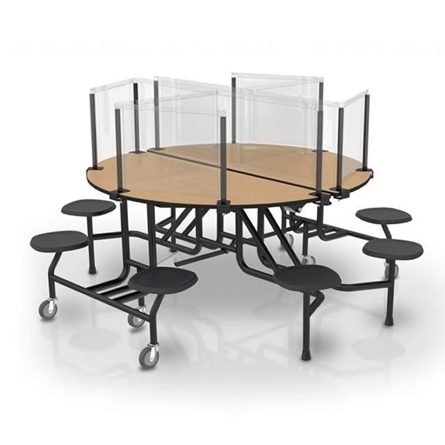 Safety Dividers Round Table