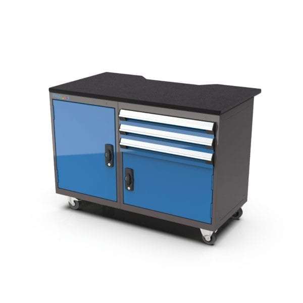Heavy-duty cabinet, great for fab labs and makerspaces