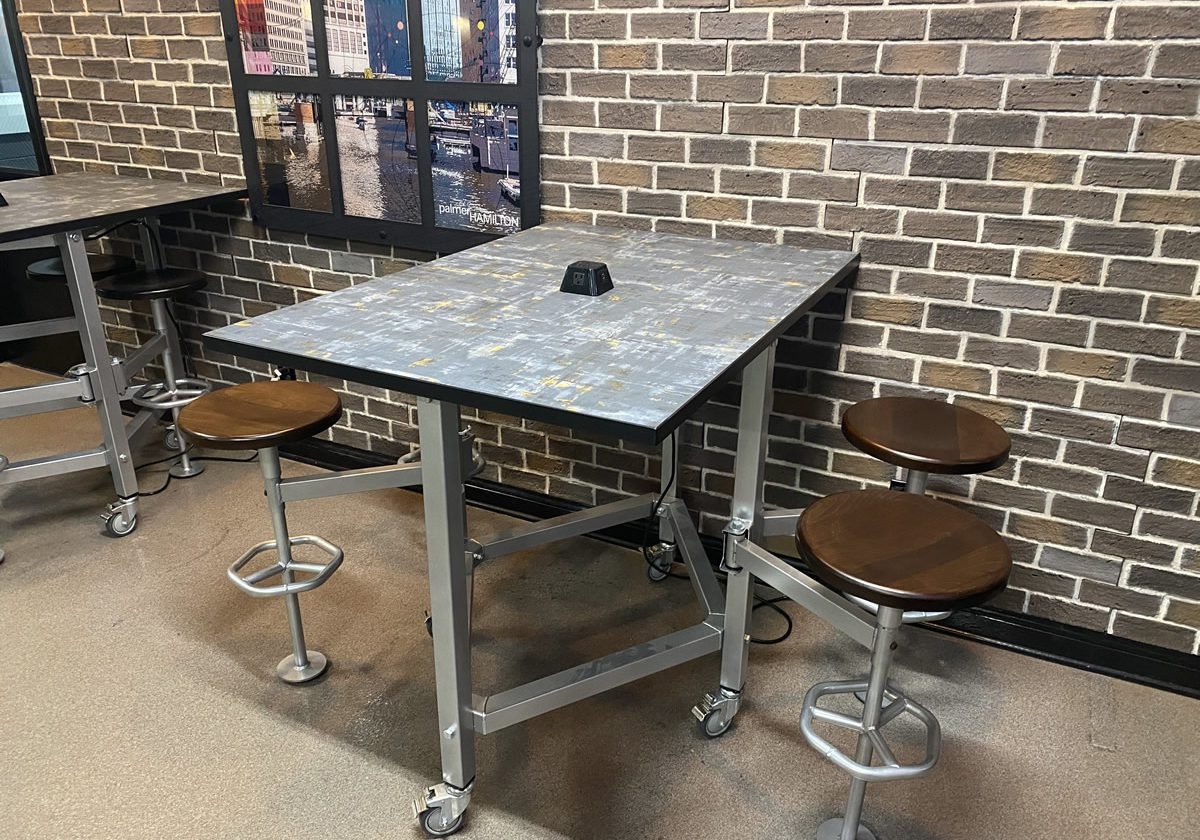 Corporate Lunchroom Table and stools